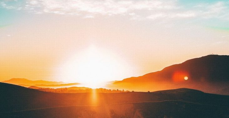 En löptur i soluppgången