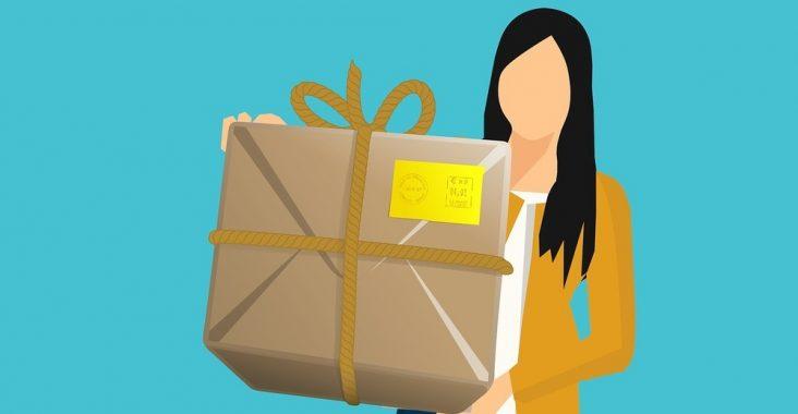 Posten paket för enkel och snabb leverans